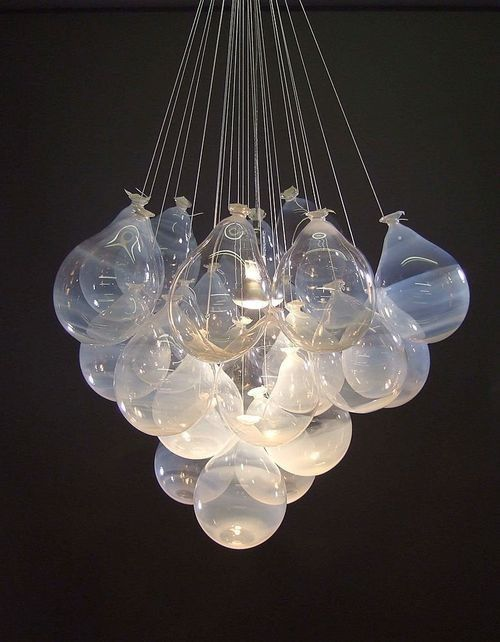 Loving that ideas are still coming in. Can't wait to make one of these! balloon chandelier
