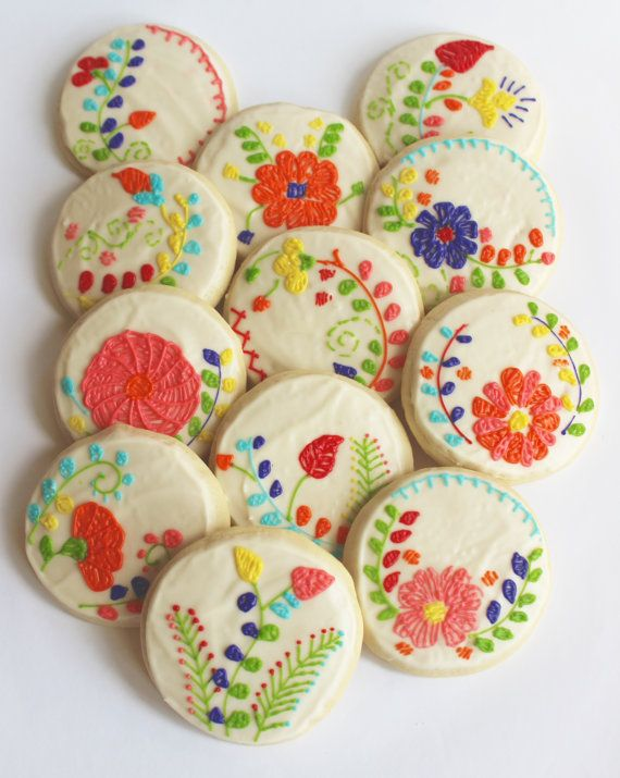 Mexican embroidery floral flower sugar
