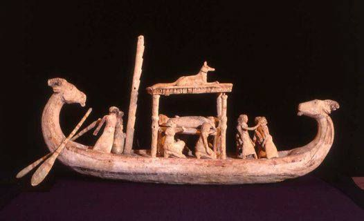 Model of Egyptian boat