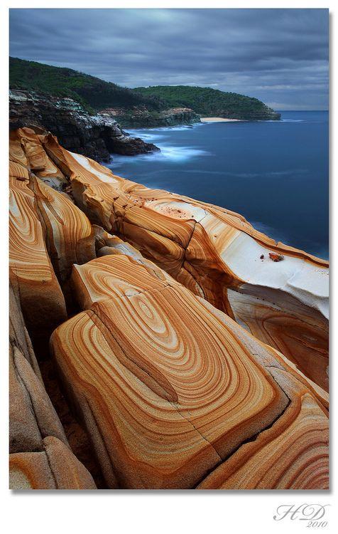Liesegang Rings at Bouddi National Park, New South Wales, Australia