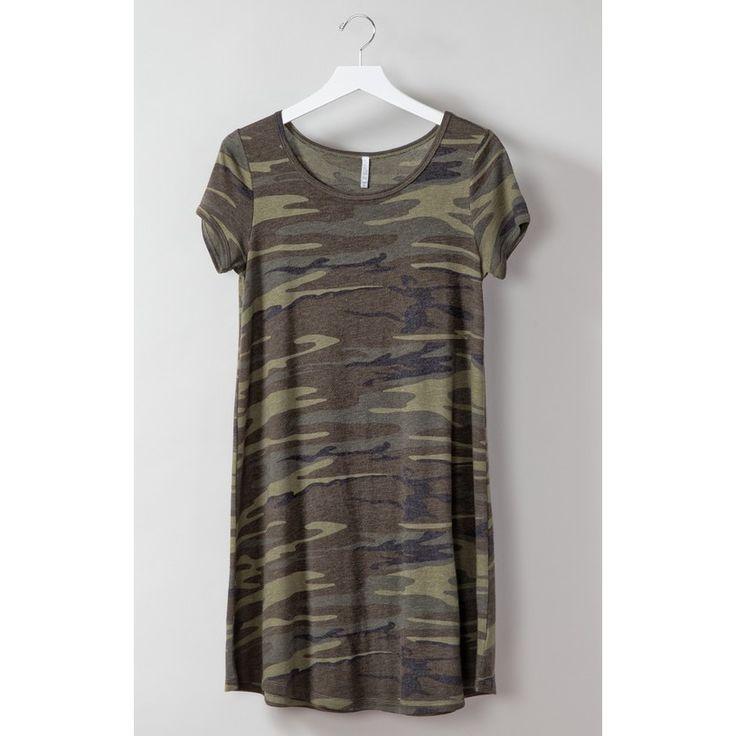 The Connor Camo Dress (Camo Green)