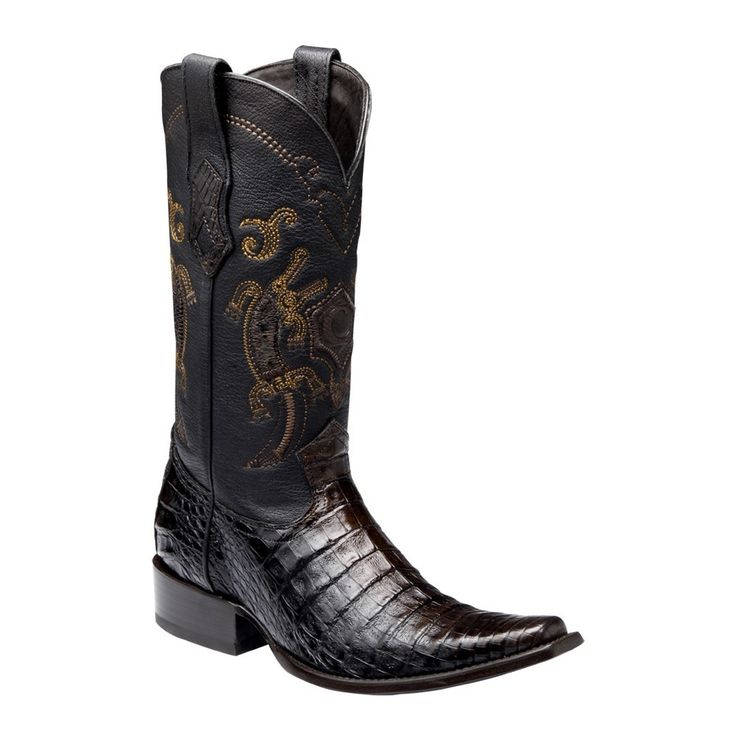 Cuadra Men's Traditional Caiman Western Boots