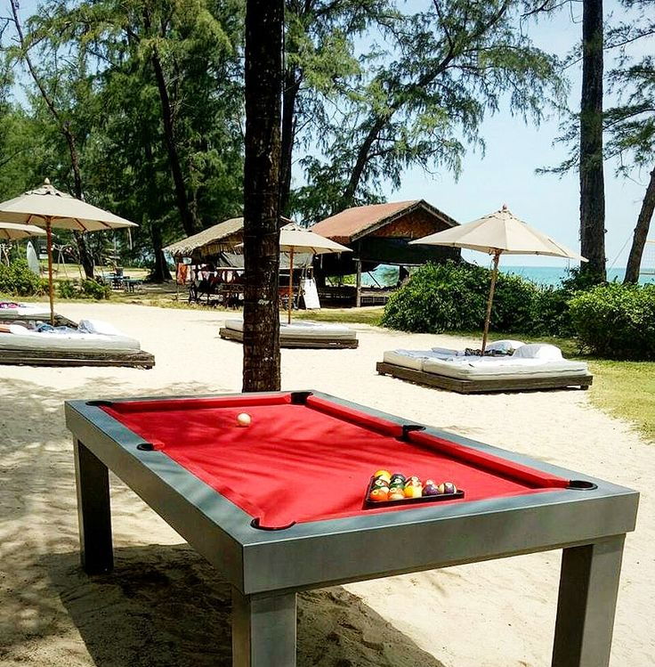 25 best outdoor pool tables thailand images on pinterest for Garden pool table