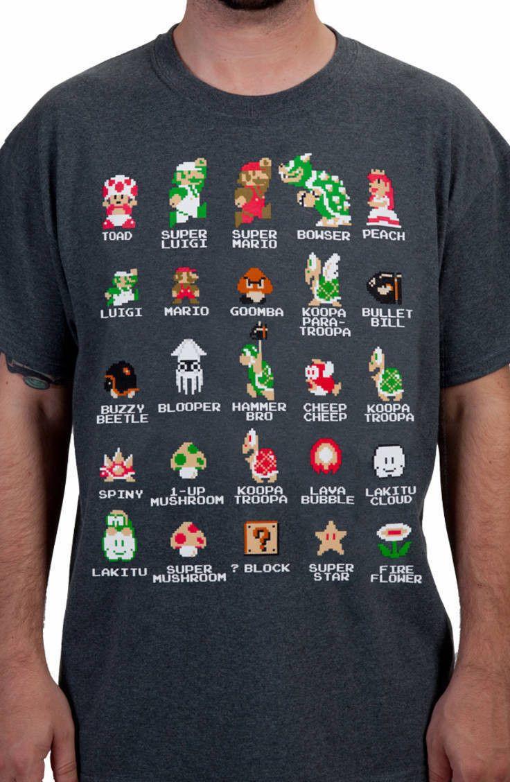 Cast of Super Mario Bros Shirt: Nintendo Super Mario Bros Mens T-shirt