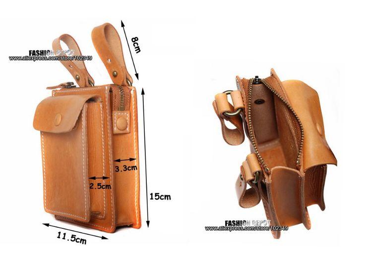 Designer First Grade Genuine Leather Waist Bag Vegetable Tanned Waist Leather Wallet Purse Belt Pouch Men Women First Grade Cow