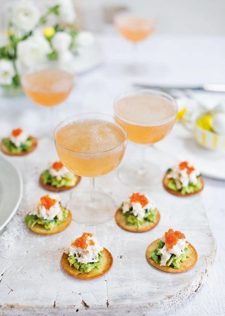 These canapés from Jason Atherton look impressive and taste great.  If you don't have time to fry the tortillas, you can serve the crab and avocado on bread instead.