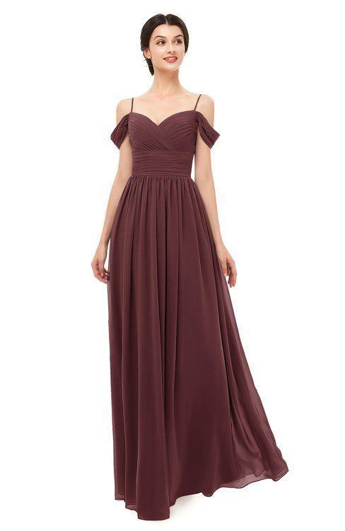 4ec77cb715b ColsBM Angel Burgundy Bridesmaid Dresses Short Sleeve Elegant A-line  Ruching Floor Length Backless