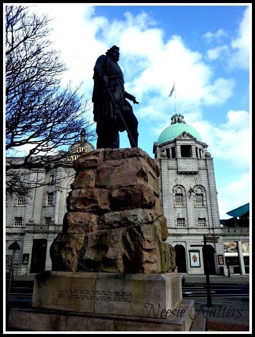 Sir William Wallace Statue in Aberdeen City, Scotland UK