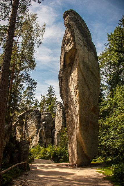 Adršpach-Teplice Rocks (Czech Republic). 'We arrived at Adršpach just as the light was fading and most visitors had gone home. Walking through the park, our footsteps muffled by the sandy floor of the ancient riverbed, it was easy to imagine these sandstone giants were watching us…' http://www.lonelyplanet.com/czech-republic/bohemia/adrspach-teplice-rocks