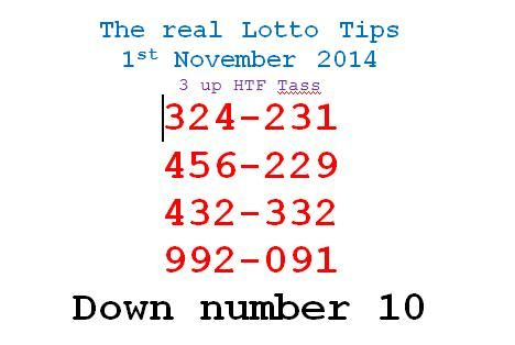 Thailand Lottery Draw Result on 1st November (1-11-2014) & Tips