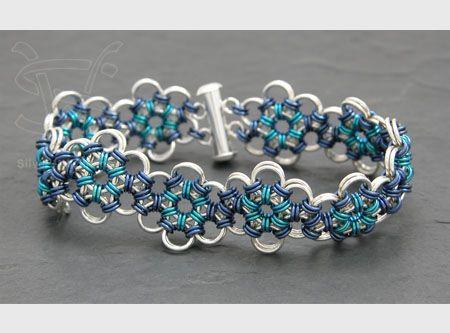 Silverweaver - Item BR004 ~ beautiful chain maille bracelet