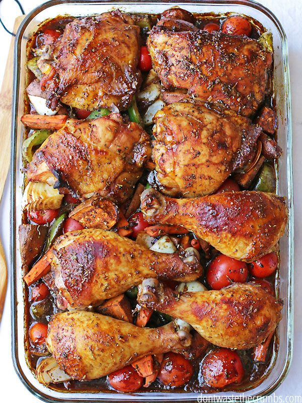 Make this Sweet and Sticky Chicken: Oven Roasted Recipe for dinner tonight! A wonderful low-prep, little time consuming recipe, that is gluten and dairy free! :: DontWastetheCrumbs.com