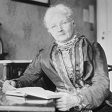 "Mary Harris Jones (Mother Jones), The Most Dangerous Woman in America... She was denounced on the floor of the United States Senate as the ""grandmother of all agitators,"" and replied: ""I hope to live long enough to be the great-grandmother of all agitators.""  Her motto: ""Pray for the dead, and fight like hell for the living."""