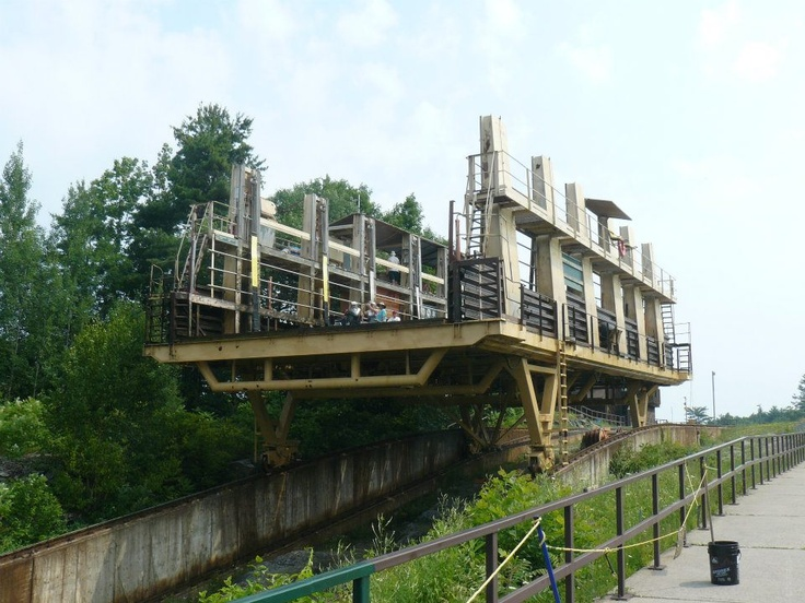 The boat elevator on the Trent/Severn Waterway near Severn Lake