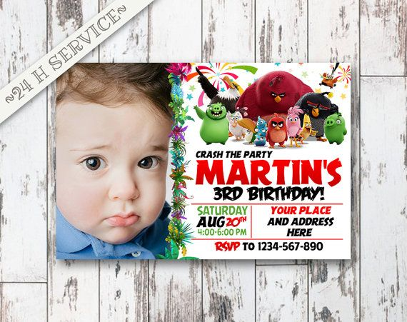 Angry Birds Chalkboard Birthday Invitation Design, Angry Birds Birthday, Angry Birds Invitation, Angry Birds Birthday Chalkboard