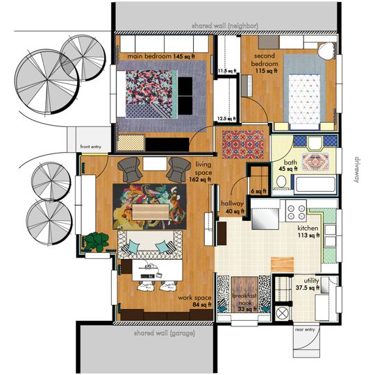 233 best Home Inspiration - Apartment Layouts images on Pinterest - fresh 37 blueprint apartments