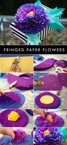 Make pretty flowers using tissue paper and Aleene's Tacky Glue with @auntpeaches !