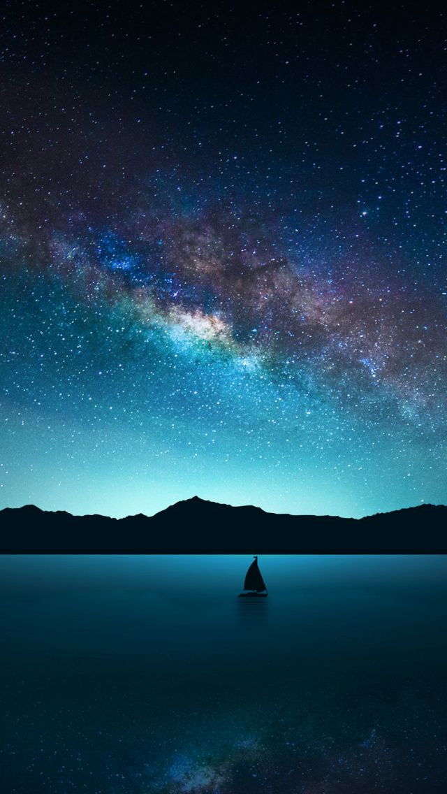 Night Sky with Stars wallpaper 640x1136