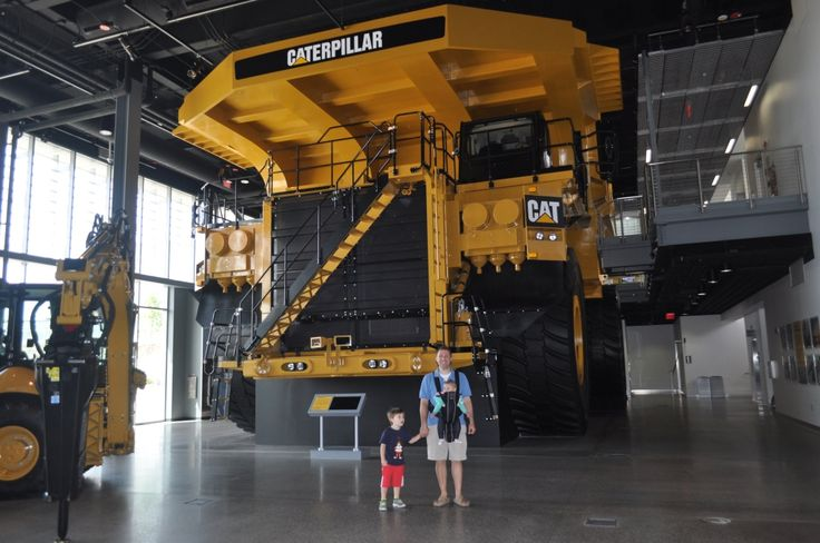 The must-see attraction in Peoria, Illinois is the state-of-the-art and family-friendly Caterpillar Visitors Center.