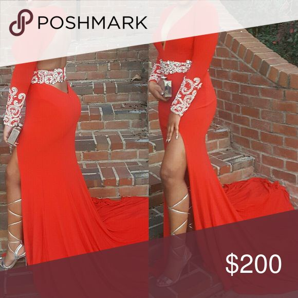 Dress For Sale Red Dress.....Excellent Condition Rachel Allan Dresses Backless
