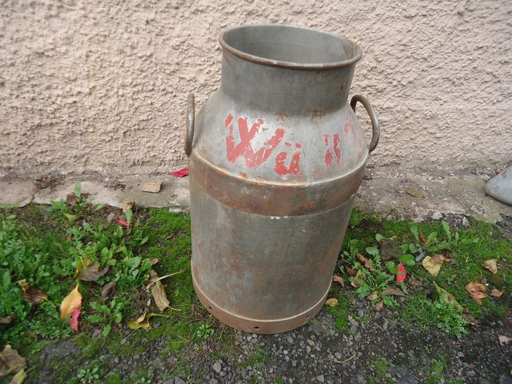 Vintage Deko - Große shabby Milchkanne - ein Designerstück von LaLuna66 bei DaWanda