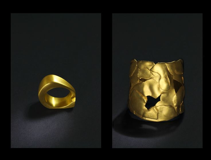 cyclade ring in gold sparta bracelet