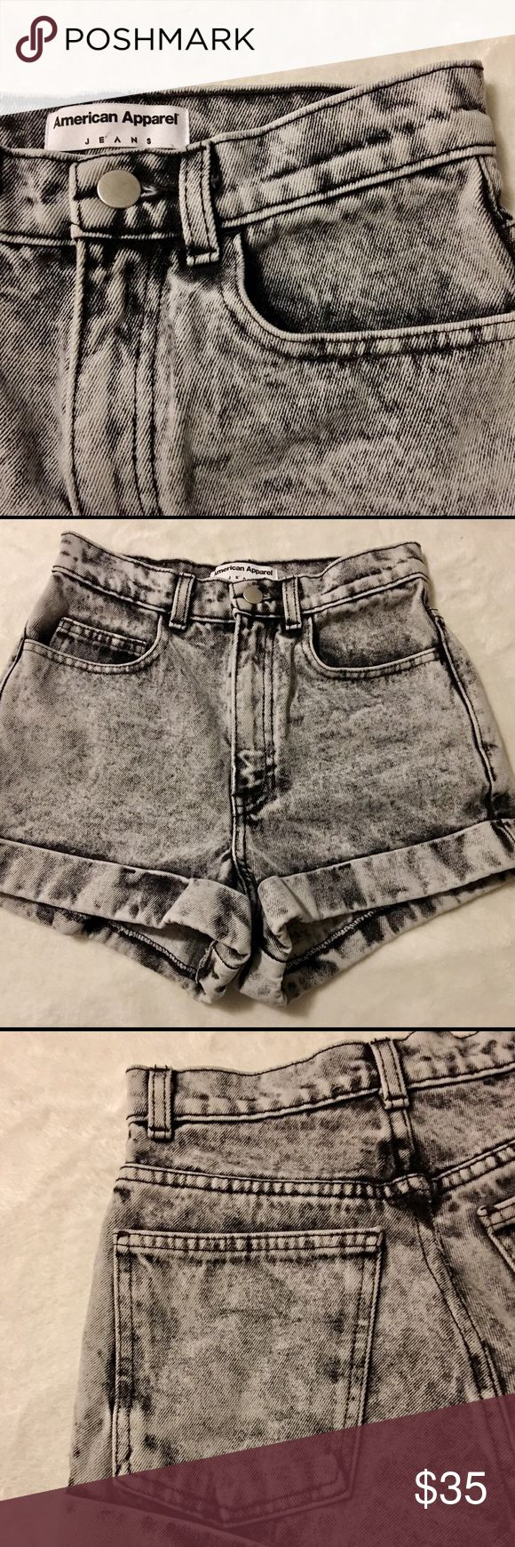 AMERICAN APPAREL ACID WASH HIGH WAIST SHORTS 24 AA NEW WITHOUT TAGS - ACID WASH JEANS IN A SIZE 24. THEY ARE IN EXCELLENT CONDITION, NO FLAWS. MAKE AN OFFER ON A BUNDLE TO SAVE. QUESTIONS, ASK AWAY! THANKS.:) American Apparel Shorts Jean Shorts