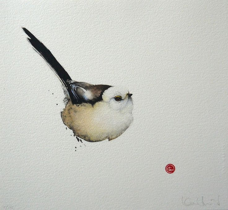 Long-tailed Tit by Karl Mårtens - Litografier « Edition Vulfovitch