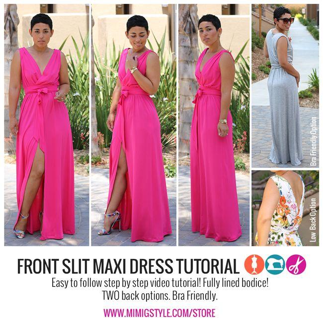 Image of DIY Front Slit Maxi Dress