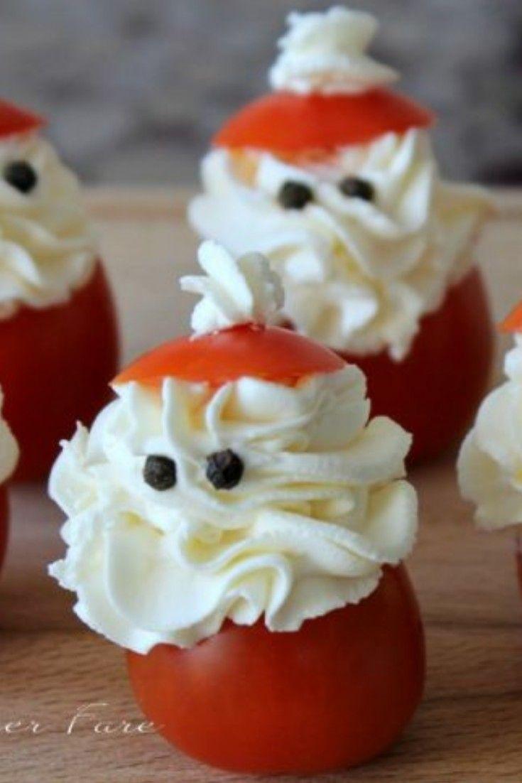 Antipasti Di Natale Semplici E Sfiziosi.Questi Pomodori Ripieni Babbo Natale Sono Degli Antipasti Natalizi