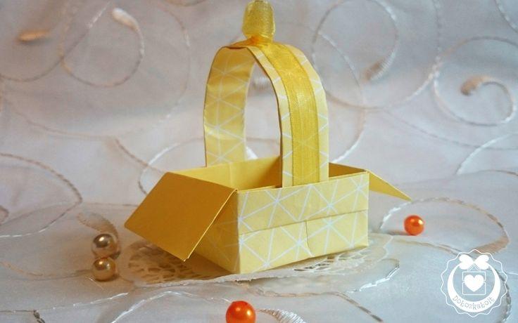 Origami kosárka
