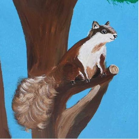 Squirrel - Acrylic painting