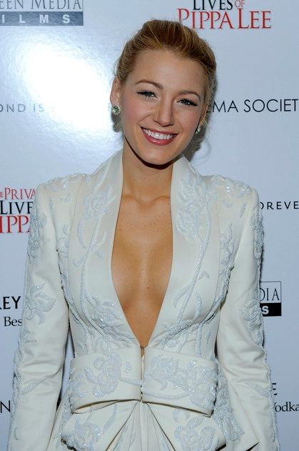 blake lively. she has the perfect cleavage lol