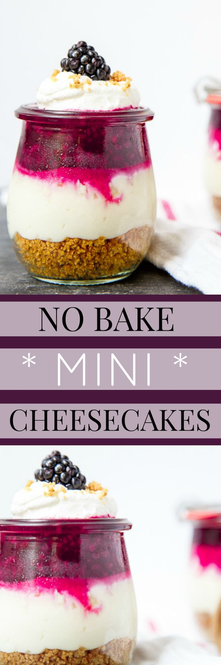 Small batch cheesecakes. Mini cheesecakes made in mason jars for two. The cutest…