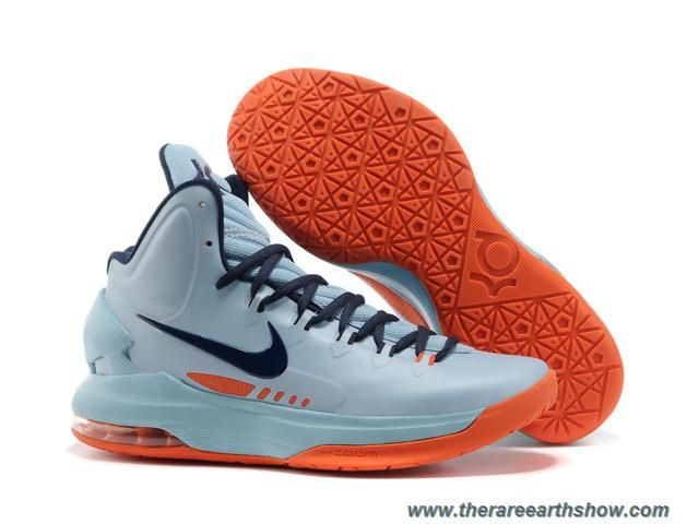 Buy Discount Nike Zoom KD V 5 Blue Orange Basketball Shoes Shoes Store