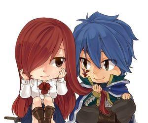 "❤️ Erza et Jellal ""ChiBi "" ~ Fairy Tail"