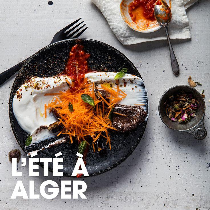 L'été à Alger #yogourt #carotte #menthe #tapenade #olive #datte #harissa #raselhanout