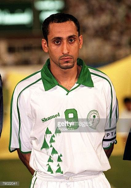 Sport Football 2002 World Cup Qualifier AFC Second Round Group A Jeddah 28th September 2001 Saudi Arabia 2 v Iran 2 Saudi Arabia captain Sami Al Jaber