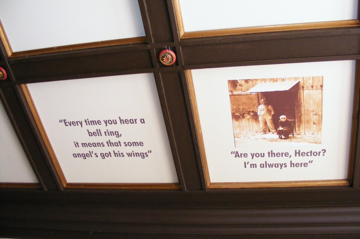 A couple of the ceiling blocks with quotes