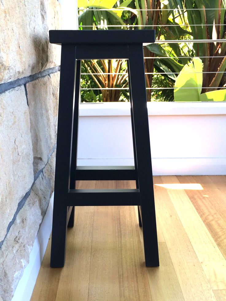 Solid black bar stool