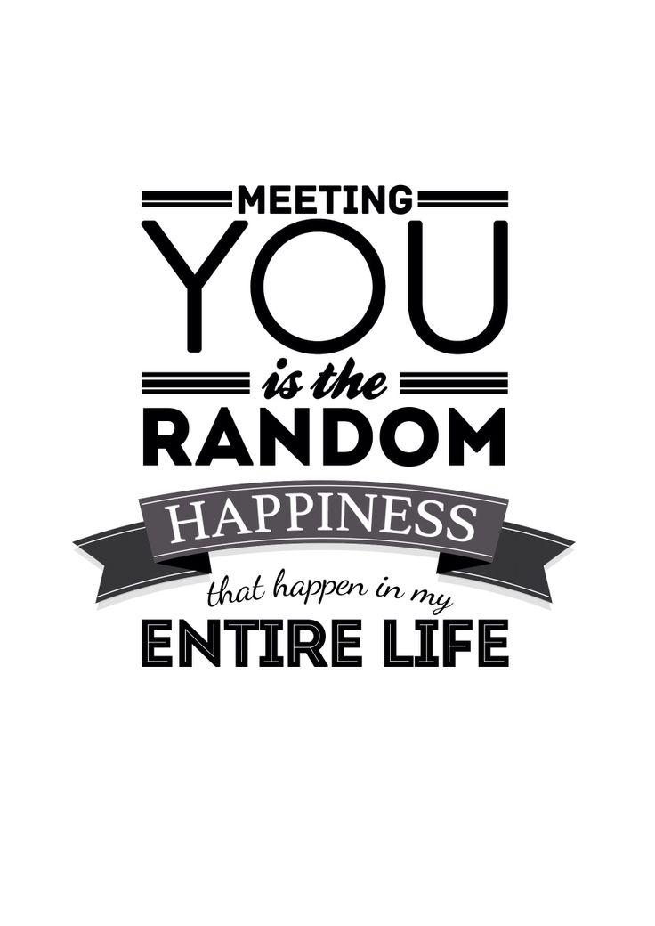 Random Happiness #typography