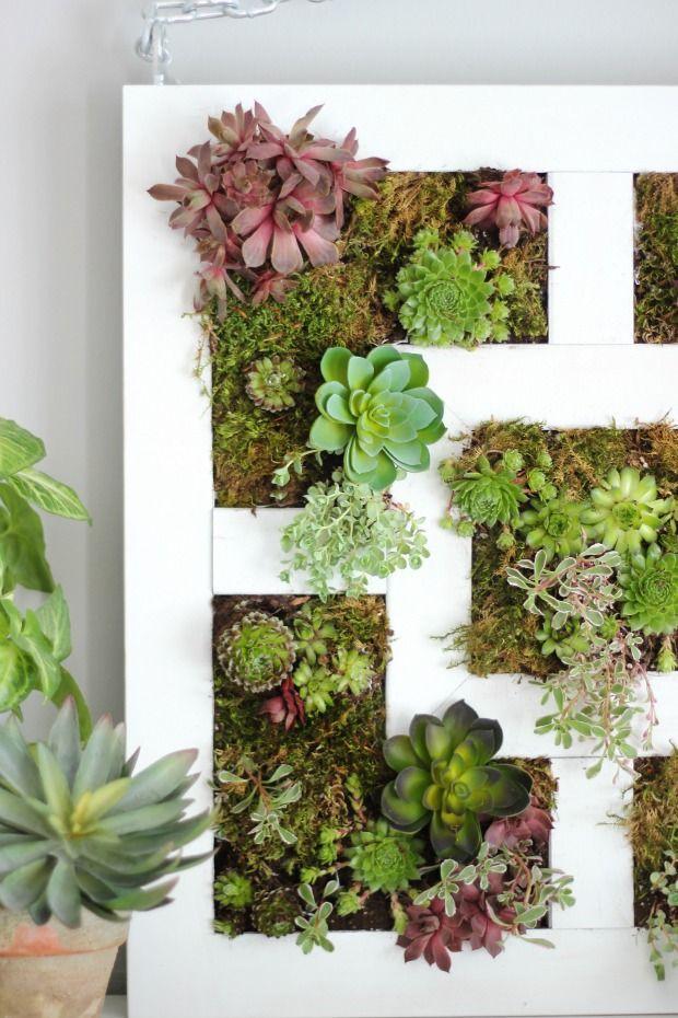 Craftberry Bush   Ikea Lack table hack to Succulent vertical garden   http://www.craftberrybush.com