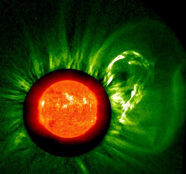 Ka-Booooooom! by NASA: A solar eruption and the blast of particles.  #Solar_Eruption #Astronomy #NASA