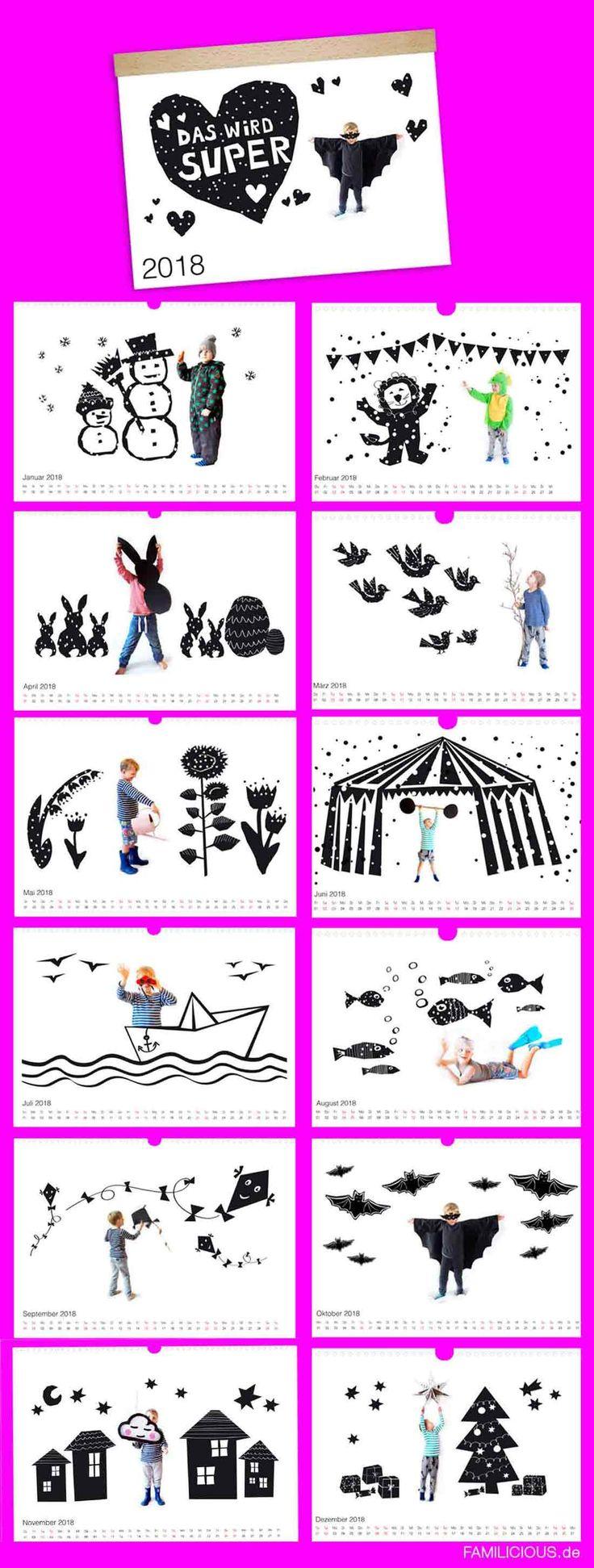 DIY: persönlicher Fotokalender als Geschenk zu Weihnachten machen: tolle Ideen für Kinder Bilder als Geschenk für Oma & Opa. Unsere 13 liebevoll illustrieren Grafiken als Vorlage nutzen – © FAMILICIOUS.de