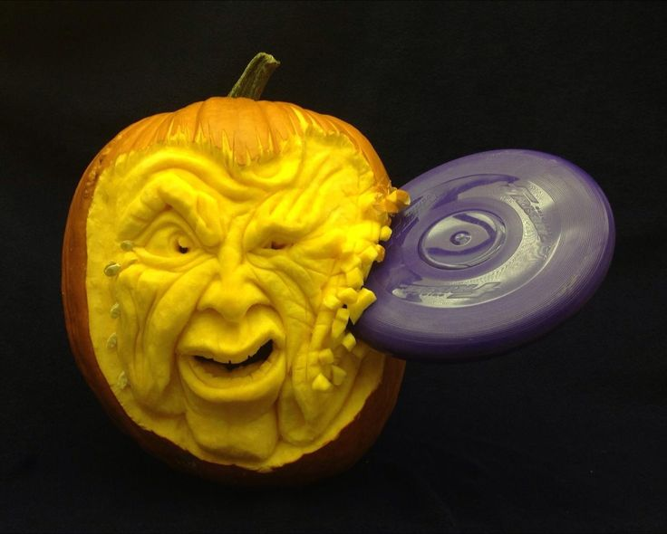 First Contact is a 3D Pumpkin Carving by Theressa Wright