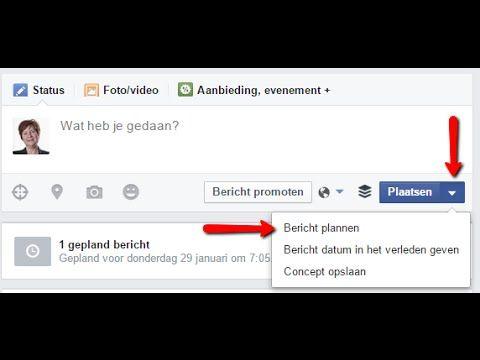 Facebook Pagina Berichten Inplannen