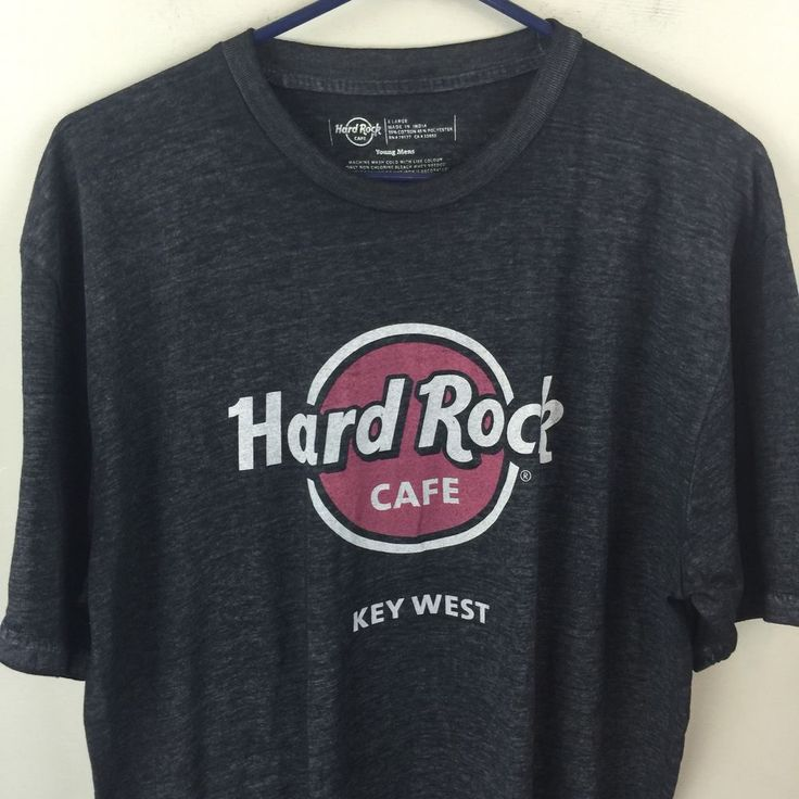 Hard Rock Cafe Gray Mens Tee Shirt Key West XL | eBay
