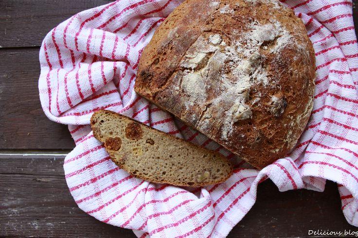 Žitný kváskový chléb s fíky a vlašskými ořechy - Delicious blog