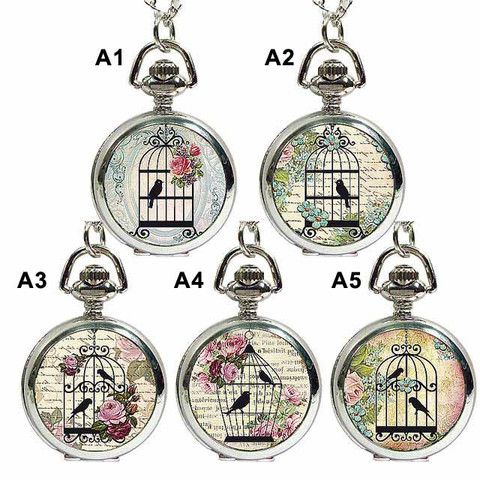 Caged In Pendant Fob Watch Necklace by Ask Alice – ASK ALICE by All Gifts Online