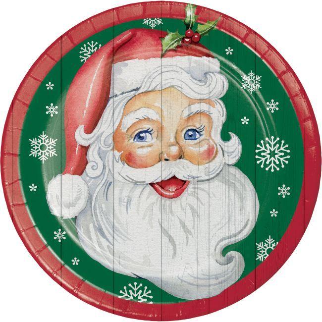 Nostalgic Santa 9 Inch Plates Con Imagenes Unas Navidad Imagenes Navidenas Navideno